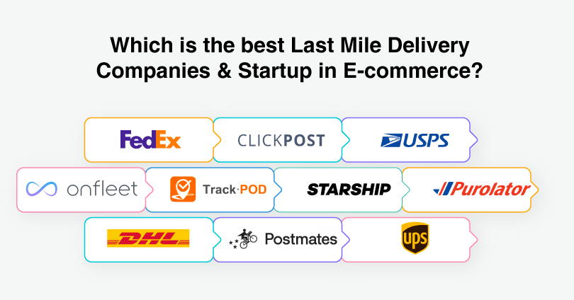 Best 10 Last Mile Delivery Companies and Startup in eCommerce