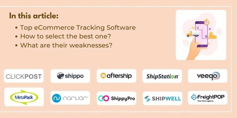 List of Top 10 Shipping Tracking Software for eCommerce Business