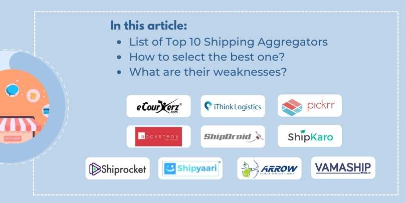 List of Top 10 Shipping or Courier Aggregator for eCommerce Businesses