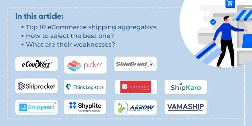 List of Top 10 eCommerce Aggregators in India for eCommerce Shipping