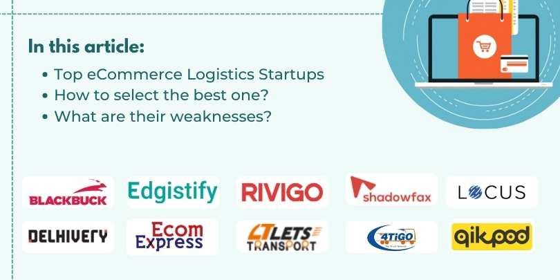List of Top 10 eCommerce Logistics Startups In India
