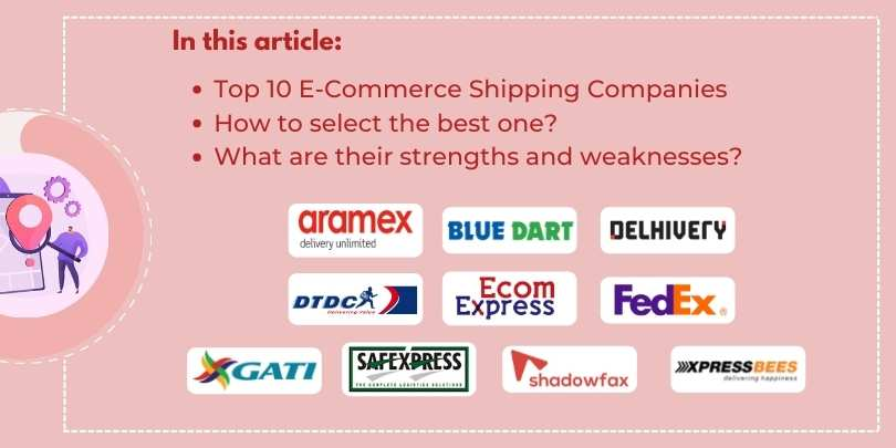 List of Top 10 eCommerce Shipping Companies and Partners in India