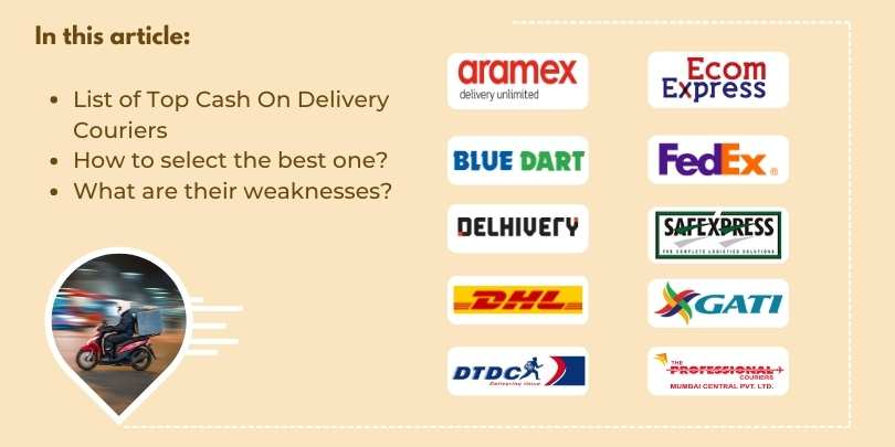 Top 10 Cash On Delivery (COD) Courier Service Provider Companies in India