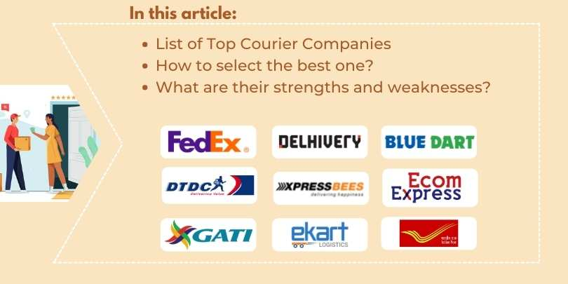 Top 10 Courier Service Provider Companies in India