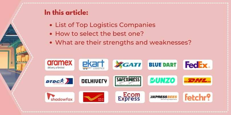 Top 10 Logistics Companies in India for eCommerce Shipping