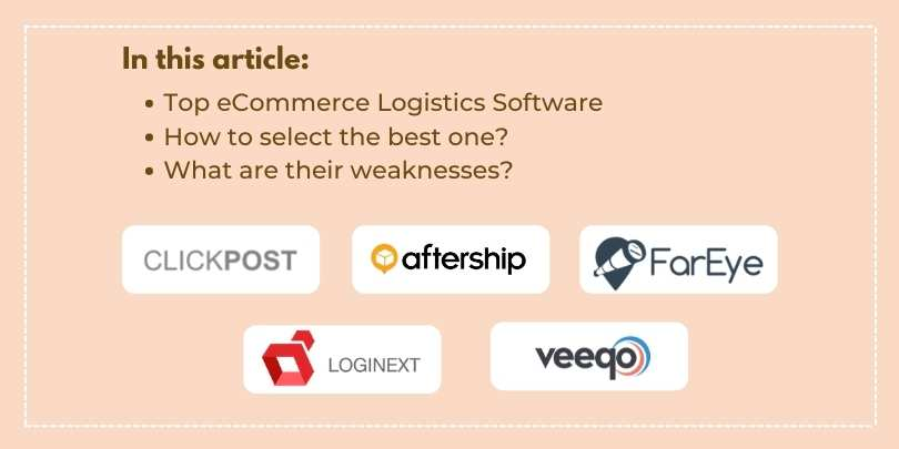 Top 10 Logistics Software for eCommerce Businesses and Fulfillment