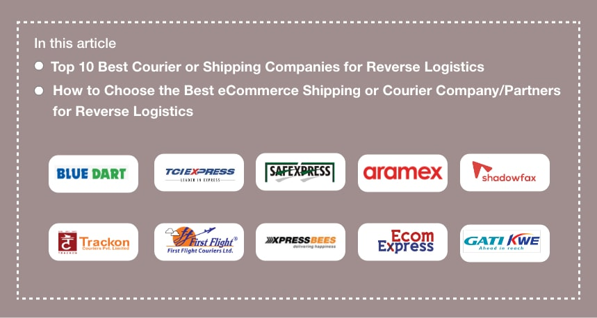 Top 10 Best Reverse Logistics Companies for eCommerce Courier Services