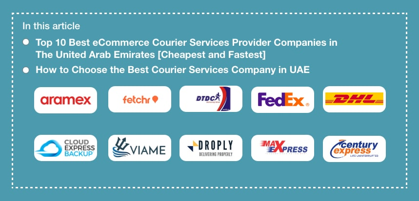 Top 10 Best Courier Companies in UAE (United Arab Emirates)